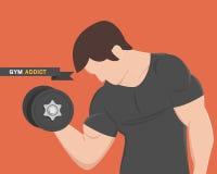 Ο μυϊκός Μαύρος ένδυσης ατόμων ικανότητας εξαρτημένων γυμναστικής ελεύθερη απεικόνιση δικαιώματος