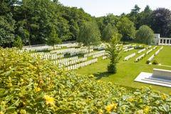 Ο νέος βρετανικός παγκόσμιος πόλεμος 1 νεκροταφείων τομείς της Φλαμανδικής περιοχής Στοκ Εικόνα