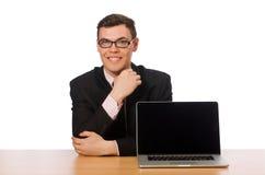 Ο νέος επιχειρηματίας στο λευκό Στοκ εικόνες με δικαίωμα ελεύθερης χρήσης