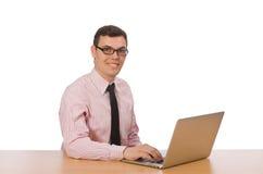Ο νέος επιχειρηματίας στο λευκό Στοκ Εικόνες