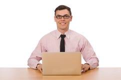 Ο νέος επιχειρηματίας στο λευκό Στοκ Εικόνα
