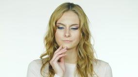 Ο νέος πονόδοντος γυναικών απόθεμα βίντεο