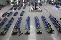 Ο νέος σιδηροδρομικός σταθμός CRH σε Wuhu (Wuhu, Κίνα) Στοκ εικόνα με δικαίωμα ελεύθερης χρήσης