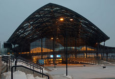 Ο νέος σταθμός Λοντζ Fabryczna Στοκ Φωτογραφία