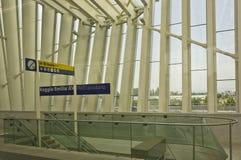 Ο νέος σταθμός τρόπων ραγών του Reggio Emilia Στοκ εικόνα με δικαίωμα ελεύθερης χρήσης