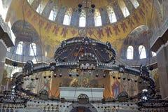 Ο ναυτικός καθεδρικός ναός του Άγιου Βασίλη το Wonderworker - που χτίζεται las Στοκ εικόνες με δικαίωμα ελεύθερης χρήσης