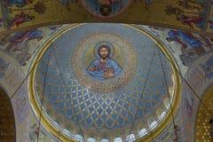 Ο ναυτικός καθεδρικός ναός του Άγιου Βασίλη το Wonderworker - που χτίζεται las Στοκ Εικόνα