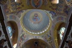 Ο ναυτικός καθεδρικός ναός του Άγιου Βασίλη το Wonderworker - που χτίζεται las Στοκ Φωτογραφίες