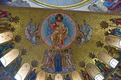 Ο ναυτικός καθεδρικός ναός του Άγιου Βασίλη το Wonderworker - που χτίζεται las Στοκ εικόνα με δικαίωμα ελεύθερης χρήσης