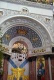 Ο ναυτικός καθεδρικός ναός του Άγιου Βασίλη το Wonderworker - που χτίζεται las Στοκ Φωτογραφία