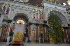 Ο ναυτικός καθεδρικός ναός του Άγιου Βασίλη το Wonderworker - που χτίζεται las Στοκ Εικόνες