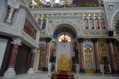 Ο ναυτικός καθεδρικός ναός του Άγιου Βασίλη το Wonderworker - που χτίζεται las Στοκ φωτογραφίες με δικαίωμα ελεύθερης χρήσης