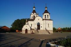 Ο ναός προς τιμή το ιβηρικό εικονίδιο της μητέρας του Θεού Στοκ Εικόνες