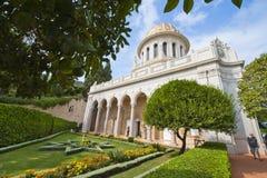 Ο ναός στους κήπους Baha'i Στοκ Εικόνες