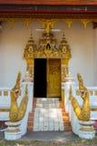 Ο ναός στο Λάος, πόρτα Στοκ Φωτογραφίες