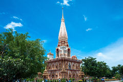 Ο ναός σύνθετος Wat Chalong σε Phuket, Ταϊλάνδη στοκ εικόνα