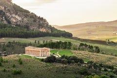 Ο ναός της Αφροδίτης σε Segesta, πόλη αρχαίου Έλληνα στη Σικελία στοκ εικόνα με δικαίωμα ελεύθερης χρήσης