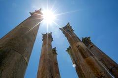 Ο ναός της Artemis σε Jerash Jarash, Ιορδανία Στοκ εικόνες με δικαίωμα ελεύθερης χρήσης