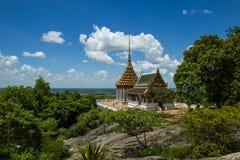 Ο ναός τοποθετεί την επαρχία DEESALUEK Suphanburi Στοκ Εικόνα