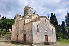Ο ναός του ST Simon ο φανατικός σε νέο Athos Στοκ φωτογραφία με δικαίωμα ελεύθερης χρήσης