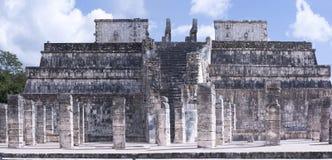 Ο ναός χιλίων πολεμιστών στις καταστροφές Chichen Itza, Maya CI Στοκ εικόνα με δικαίωμα ελεύθερης χρήσης