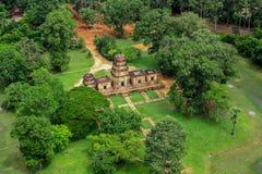 Ο ναός δώδεκα BA Phoun πεζουλιών ελεφάντων εποχής Angkor κυρία tample Byon Tample Angkor wat siem συγκεντρώνει το βασίλειο της Κα Στοκ φωτογραφία με δικαίωμα ελεύθερης χρήσης