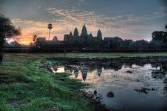 Ο ναός Angkor Wat στην ανατολή Στοκ εικόνες με δικαίωμα ελεύθερης χρήσης