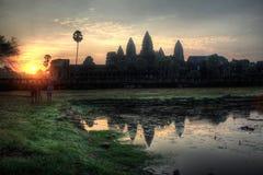 Ο ναός Angkor Wat στην ανατολή Στοκ Φωτογραφία