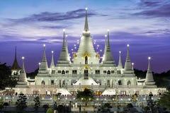 Ο ναός Asokaram Wat στο λυκόφως, ουρανός είναι για πραγματικό ένα βουδιστικό μοναστήρι Στοκ Φωτογραφία