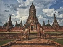 Ο ναός Ayutthaya Στοκ Εικόνα