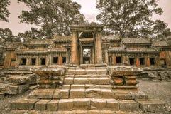 Ο ναός Bayon και Khmer σύνθετος Angkor Wat σε Siem συγκεντρώνουν, Καμπότζη Στοκ Φωτογραφία