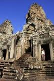 Ο ναός Bayon, περιοχή Angkor, Siem συγκεντρώνει, Καμπότζη Στοκ Φωτογραφίες