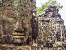 Ο ναός Bayon σε Angkor, Siem συγκεντρώνει, Καμπότζη Στοκ Φωτογραφίες