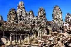 Ο ναός Bayon σε Angkor Thom, Siem συγκεντρώνει, Καμπότζη Στοκ Φωτογραφίες