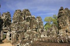 Ο ναός Bayon, Angkor περιοχή, Siem συγκεντρώνει, Καμπότζη Στοκ Φωτογραφία