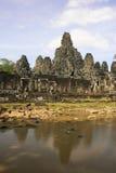 Ο ναός Bayon, Angkor περιοχή, Siem συγκεντρώνει, Καμπότζη Στοκ Εικόνα