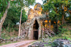 Ο ναός Bayon (Angkor Thom) Siem συγκεντρώνει, το Δεκέμβριο του 2015 της Καμπότζης Στοκ Εικόνες