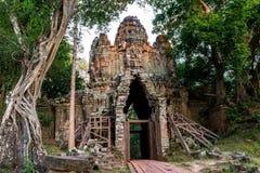 Ο ναός Bayon (Angkor Thom) Siem συγκεντρώνει, το Δεκέμβριο του 2015 της Καμπότζης Στοκ Φωτογραφία