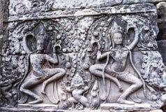 Ο ναός Bayon (Angkor Thom) Siem συγκεντρώνει το Δεκέμβριο του 2015 της Καμπότζης Στοκ Εικόνες
