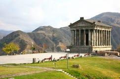 Ο ναός Garni είναι ελληνορωμαϊκός η οικοδόμηση κοντά σε Jerevan, Αρμενία Στοκ Φωτογραφίες
