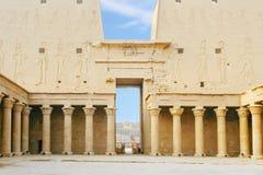 Ο ναός Horus σε Edfu στην Αίγυπτο Στοκ φωτογραφία με δικαίωμα ελεύθερης χρήσης