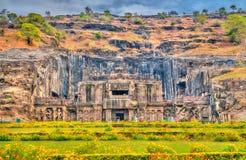 Ο ναός Kailasa, ο μεγαλύτερος ναός σε Ellora ανασκάπτει Περιοχή παγκόσμιων κληρονομιών της ΟΥΝΕΣΚΟ Maharashtra, Ινδία στοκ φωτογραφίες με δικαίωμα ελεύθερης χρήσης