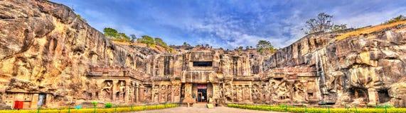 Ο ναός Kailasa, ο μεγαλύτερος ναός σε Ellora ανασκάπτει Περιοχή παγκόσμιων κληρονομιών της ΟΥΝΕΣΚΟ Maharashtra, Ινδία στοκ εικόνα