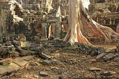Ο ναός Kdei Banteay, Angkor περιοχή, Siem συγκεντρώνει, Καμπότζη Στοκ Εικόνες