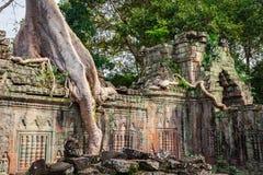 Ο ναός Khan Preah, περιοχή Angkor, Siem συγκεντρώνει, Καμπότζη Στοκ Εικόνες