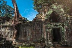 Ο ναός Khan Preah, Angkor, Siem συγκεντρώνει, Καμπότζη Στοκ εικόνες με δικαίωμα ελεύθερης χρήσης
