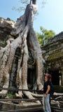 Ο ναός Khan Preah, Angkor, Siem συγκεντρώνει Στοκ Εικόνα