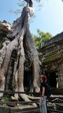 Ο ναός Khan Preah, Angkor, Siem συγκεντρώνει Στοκ Φωτογραφίες
