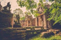 Ο ναός Khan Preah, Siem συγκεντρώνει, Καμπότζη Στοκ Φωτογραφίες