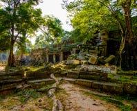 Ο ναός Khan Preah, Siem συγκεντρώνει, Καμπότζη Στοκ Εικόνες
